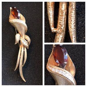 Vintage 60's SARAH COV Cala Lily Brooch Pin